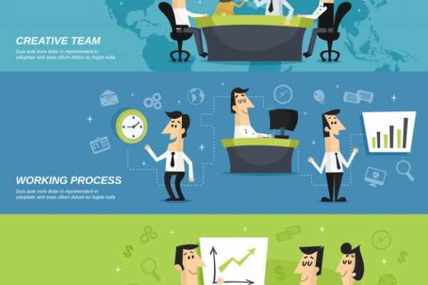 office-staff-employees-horizontal-banners_1284-4015